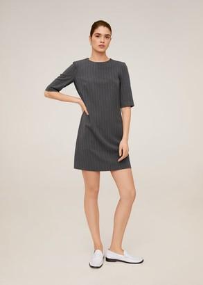 MANGO Pinstripe print dress grey - 4 - Women