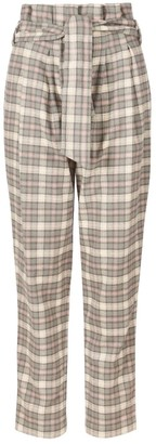 A Line Clothing Checked Tailored High-Waisted Trousers