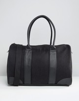 Asos Holdall In Melton With Contrast Trims