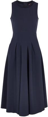 High Verity Navy Stretch-jersey Midi Dress