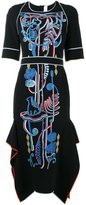 Peter Pilotto embroidered mid-length dress