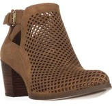 Anne Klein Gabs Perforated Ankle Boots, Medium Natural.