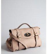 Mulberry blush grain embossed leather 'Alexa' buckle satchel