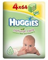Huggies Natural Care Wipes 4 x 64 per pack by