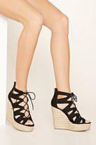 Forever 21 FOREVER 21+ Faux Suede Wedge Sandals