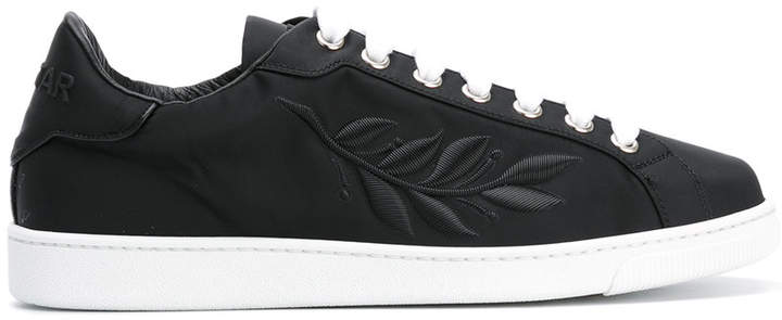DSQUARED2 24-7 STAR embroidered leaf sneakers