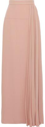 Lanvin Pleated Silk-crepe Maxi Skirt