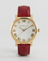 Michael Kors Norie Red Leather Watch