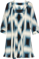 Fendi Neon-print silk-georgette tunic dress