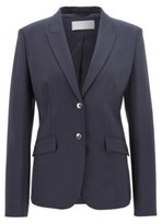 HUGO BOSS - Stretch wool blazer with peak lapels - Dark Blue