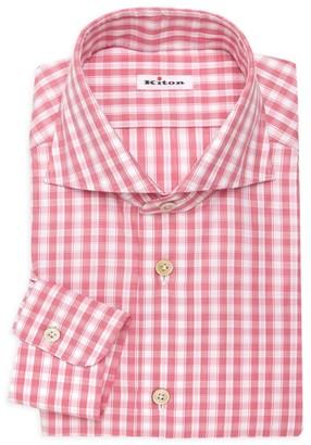 Kiton Plaid Dress Shirt