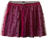 Ikks Layered Tulle Skirt Over Jersey Fabric with Glitter Polka Dots & Elastic Waistband (Little Kids/Big Kids)