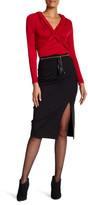 Laundry by Shelli Segal Pencil Skirt with Tassel Belt