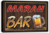 AdvPro Canvas scw3-082544 MARAH Name Home Bar Pub Beer Mugs Cheers Stretched Canvas Print Sign
