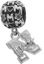 "Dayna U Sterling Silver Nebraska Cornhuskers Team Logo ""Mom"" Charm"