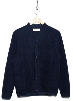 Universal Works Cardigan Wool Fleece Navy 23696 - S