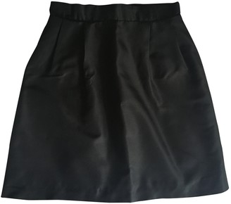 Carven Black Silk Skirt for Women