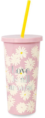 Kate Spade Love Is All Around Tumbler With Straw