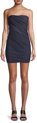 Herve Leger Ruched Strapless Mini Dress