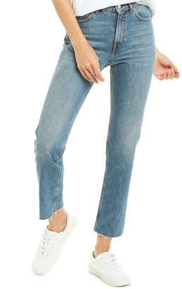 IRO Chary Blue Grey High-Rise Straight Leg