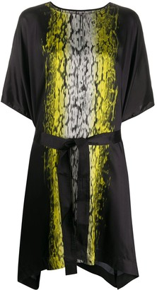 Rick Owens acid print T-shirt midi dress