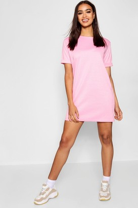 boohoo Roll Back Ponte Shift Dress