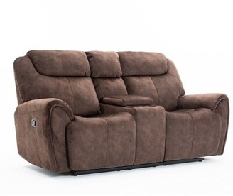 Red Barrel Studio Paradise Reclining Loveseat Upholstery Color: Brown