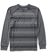 Roundtree & Yorke Performance Big & Tall Long-Sleeve Stripe Henley