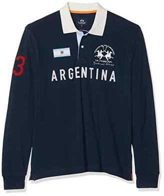 La Martina Men's Man Polo L/s Piquet Stretch Shirt