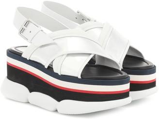 Moncler Zelda leather-trimmed platform sandals