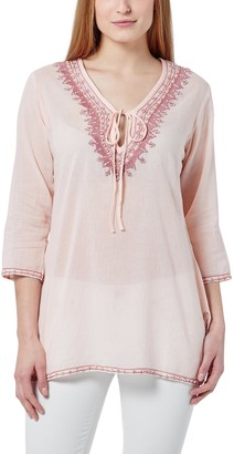Berydale Women's Tunic With Embroidery Pearls and Rhinestones pink/old pink M
