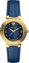 Versace Divine gold and leather watch