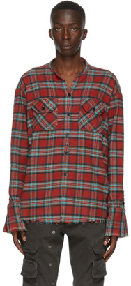 Greg Lauren Red Plaid Shirt