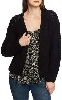 1.STATE Pointelle Open Cardigan