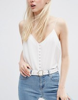 Asos Heart Buckle Waist And Hip Belt