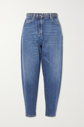 Valentino High-rise Tapered Jeans - Blue
