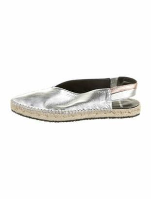 Pierre Hardy Leather Slingback Flats w/ Tags Silver