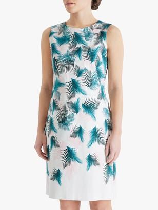 Fenn Wright Manson Petite Claudie Floral Mini Dress, Palm Print