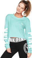 PINK Campus Long Sleeve Shrunken Tee