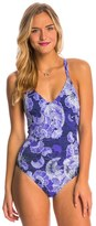 Roxy Perpetual Water V Neck One Piece Swimsuit 8147395