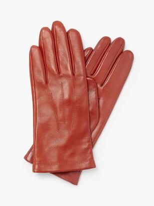 John Lewis & Partners Fleece Lined Leather Gloves