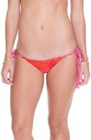Luli Fama Women's Side Ties Ruched Bikini Bottoms