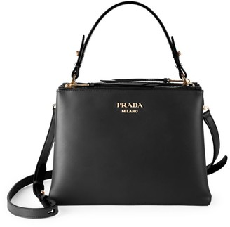 Prada Large Matinee Leather Top Handle Bag