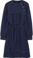 Isabel Marant Adele studded silk crepe de chine dress