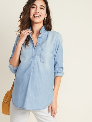 Old Navy Maternity Chambray Popover Shirt