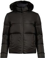 Fendi Bag Bugs fur-trimmed reversible quilted-down coat