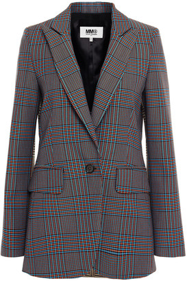 MM6 MAISON MARGIELA Paneled Checked Jacquard Blazer