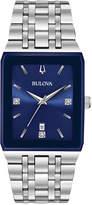 Bulova Men's Diamond-Accent Stainless Steel Bracelet Watch 31x45mm, a Macy's Exclusive Style