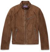 Ralph Lauren Purple Label Randall Suede Café Racer Jacket - Brown