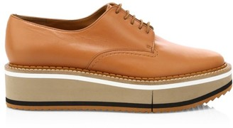 Clergerie Berlin 3 Leather Platform Oxfords